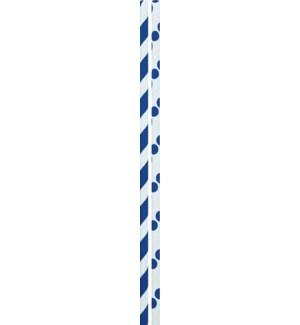 STRAWS/Navy Dots & Stripes