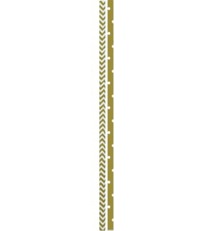 STRAWS/Gold Dots & Stripes