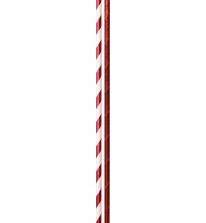 STRAWS/Solid Stripe Red Foil