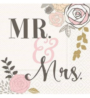NAPKINS/Mr. And Mrs. Bev