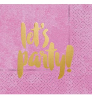 NAPKIN/Let's Party Pink