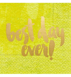 NAPKIN/Best Day Ever Yellow