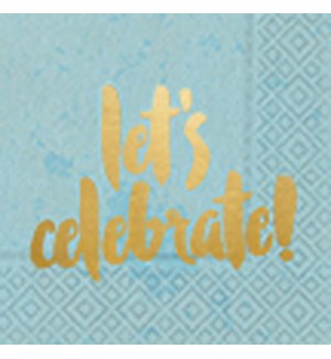 NAPKIN/Let's Celebrate Blue