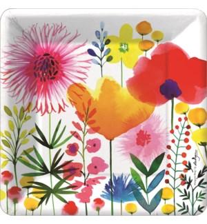 PLATE/Watercolor Wildflowers