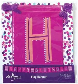 BANNER/Pink Confetti Toss