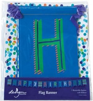 BANNER/Blue Confetti Toss