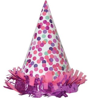 PARTYHAT/Pink Confetti Toss