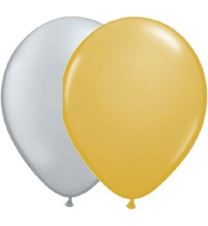 BALLOON/Silver And Gold Mix