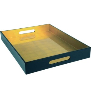 TRAY/Black Lacquer-Gold