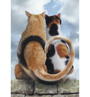 AN/Two cats tails heart
