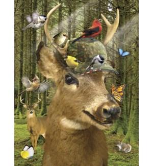 BD/Deer with songbirds