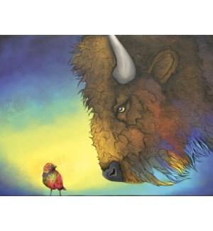 BD/Buffalo at small red bird