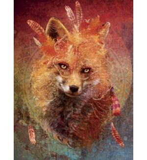 BD/Fox wearing feathers