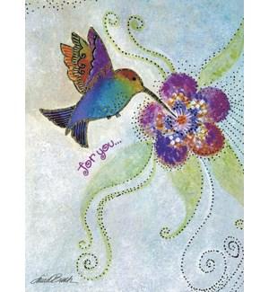 BD/Hummingbird and flower