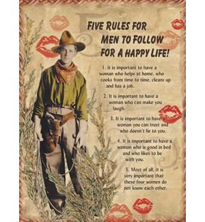 ED/Cowboy w/five rules for men