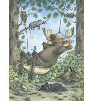 BD/Moose lounging in hammock