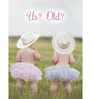 BD/Two cowgirl babies in tutus
