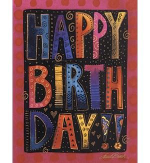 BD/Happy Birthday big letters