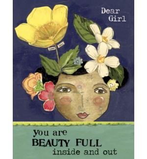 BD/Woman's face, flowers