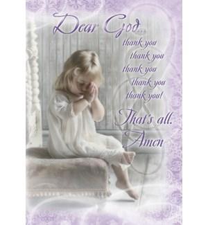 BD/Girl in dress praying
