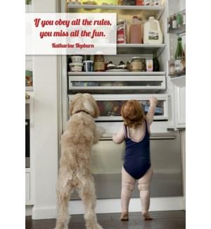 BD/Girl & dog in fridge