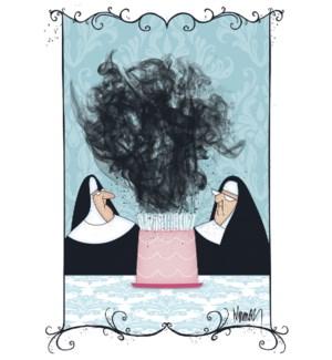 BD/Pair of nuns burning cake