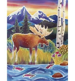 BL/Moose along water fish