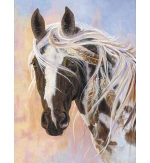 BL/Horse portrait feather