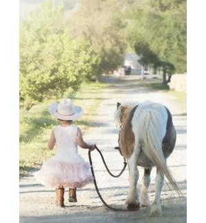 BL/Little cowgirl wearing tutu