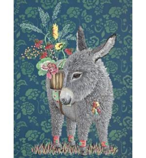 BL/Donkey standing in grass