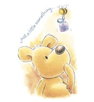 BD/Bear looking up at gift
