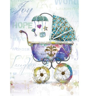 NB/Old fashioned baby carriage