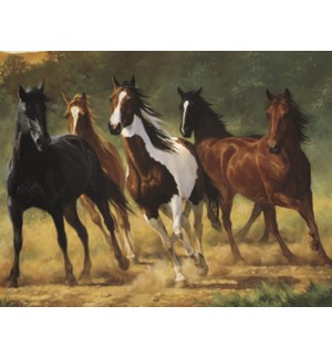 NOTECARD/Running horses