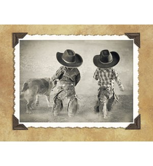 NOTECARD/Little cowboys