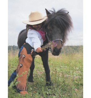 NOTECARD/Cowgirl & pony