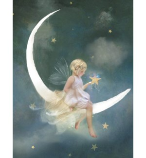 NOTECARD/Angel in moon
