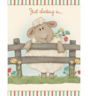 NOTECARD/Sheep on legs
