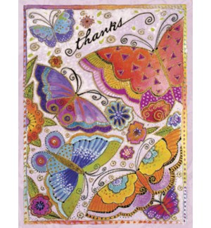 NOTECARD/Butterfly flower