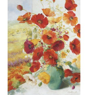 NOTECARD/Orange poppies