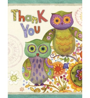 NOTECARD/Thank you owls