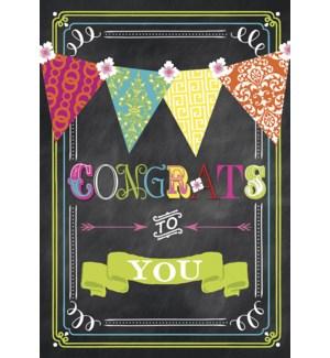 CO/Congrats chalkboard