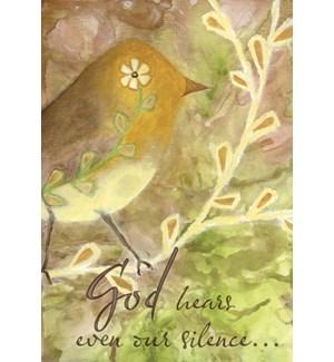 ENC/Gold bird on branch