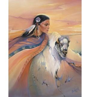 ENC/Woman with buffalo