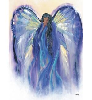 ENC/Woman purple gown wings