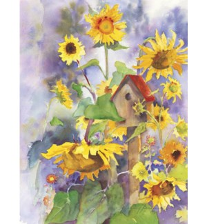 TOY/Birdhouse & sunflowers