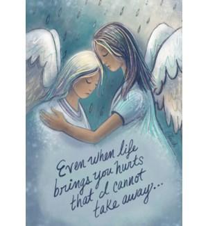ENC/Angels hugging in the rain