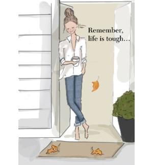 ENC/Woman standing in doorway