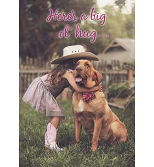 ENC/Cowgirl hugging dog