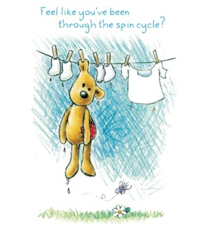 ENC/Bear clipped to washline