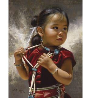 TOY/Girl wearing jewelry